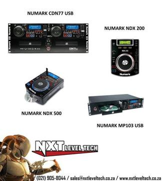 Numark CD and MP3 Players with NEW FULL 12 Month Warranty