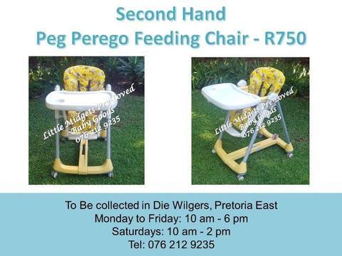 Second Hand Peg Perego Feeding Chair