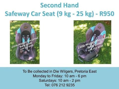 Second Hand Safeway Car Seat (9 kg - 25 kg) - Blue