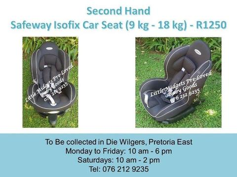 Second Hand Safeway Isofix Car Seat (9 kg - 25 kg)