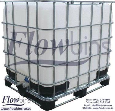 1000L Flowbin Tanks- USED - RECONDITIONED - NEW from R700