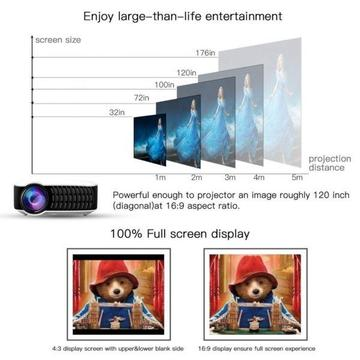 Video Projector, Projector Bag and Projector 1.83x1.83m wide Parrot stand Screen