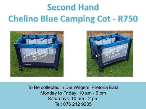 Second Hand Chelino Blue Camping Cot