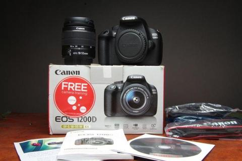 18MP Canon 1200D dslr with Canon 18-55mm Image stabiliser lens for sale