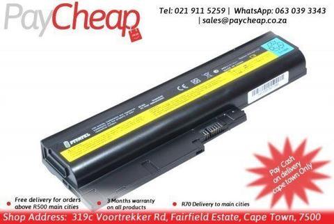 4400mah 6 cells Replacement Laptop Battery For IBM ThinkPad R60 R60e T60 T60p Lenovo ThinkPad R500 T