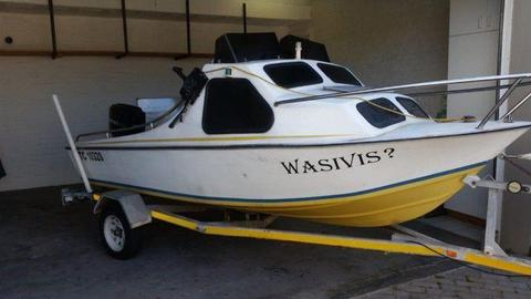 Andy Marine Cabin Boat and Trailer for Sale