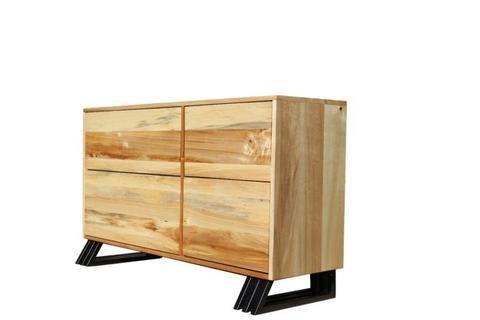 Solid Poplar Wood Side Board