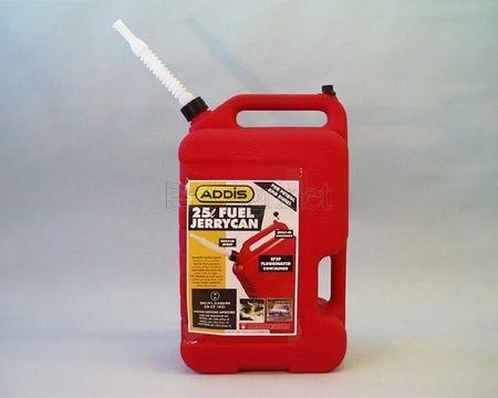 Jerry Can Plastic Petrol Large Addis - 25 Lit