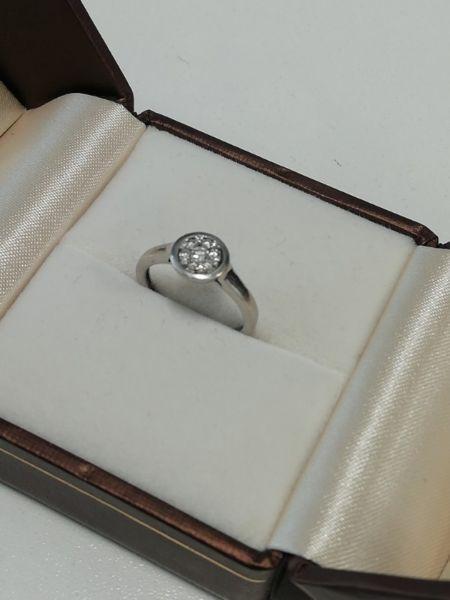 9ct White Gold Engagement Ring 6 diamonds