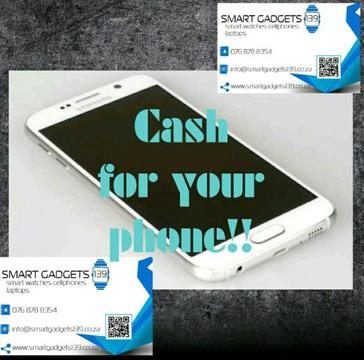 NEED QUICK CASH?? INSTANT CASH PAID FOR YOUR SMARTPHONE/ SMART WATCH / LAPTOP ( 0768788354)