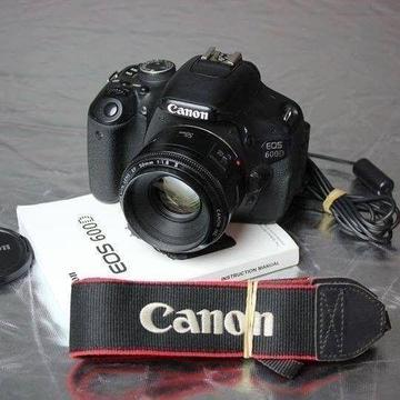 Canon 600D DSLR with 50mm f1.8 lens