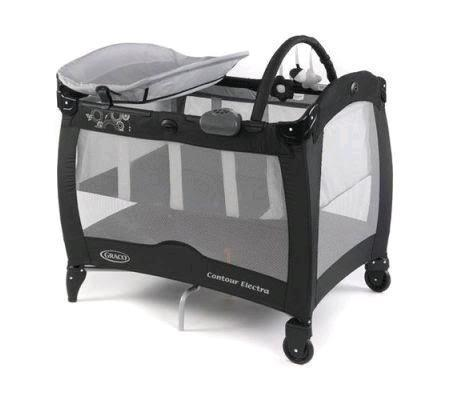 Graco Contour Electra camp cot with changer