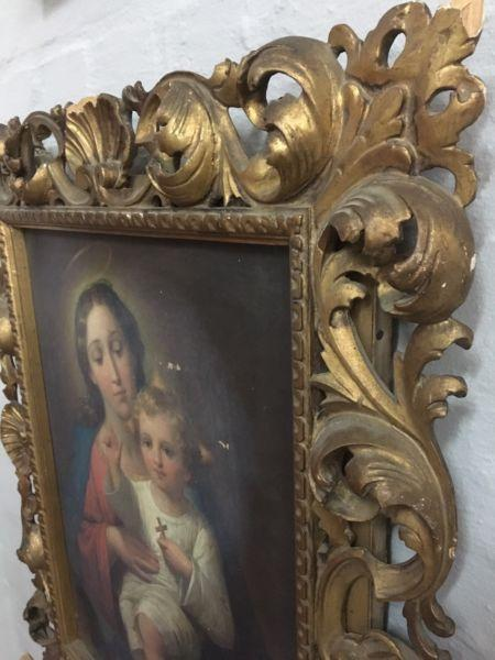 "Stunning Antique Oil Painting with a interesting "" Provenance """