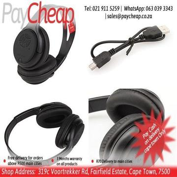 BAT 668 Music Wireless Bluetooth Over-ear Headset Headphone with Mic Support TF Card â€ââ'