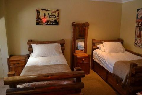 Solid wood bed set and other wooden bedroom items