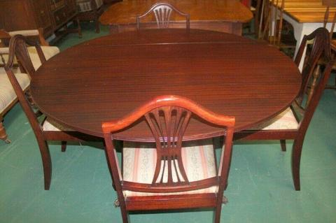 Mahogany Drop Side Table & 4 Chairs - R3,750.00
