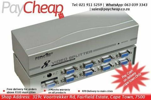 FJGEAR FJ-2508 8 Ports VGA Splitter 1 video source to 8 monitors