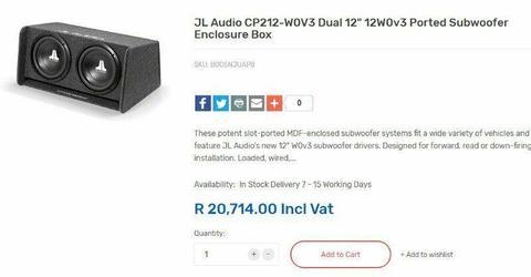 Ported Subwoofer Box - Brick7 Sales