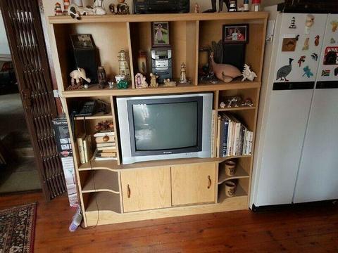 Oak Veneer TV Unit.