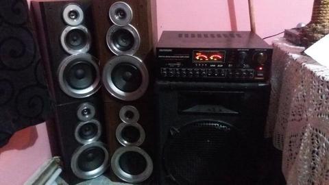 BIG HOME SOUND SYSTEM!!! GROUND SHAKER!!!SWAP OR SALE