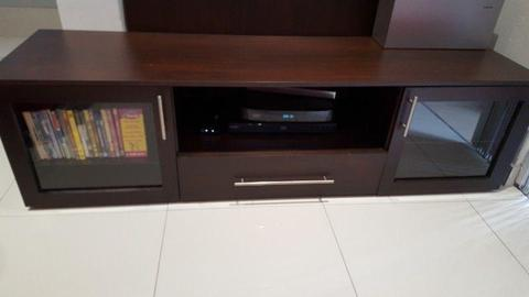 Dark mahogany TV unit for sale