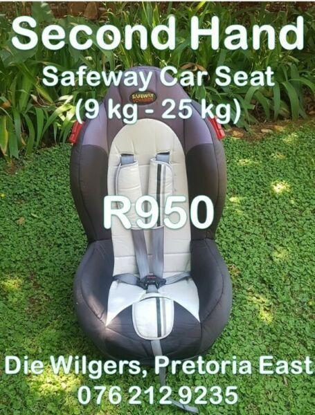 Second Hand Safeway Car Seat (9 kg - 25 kg)
