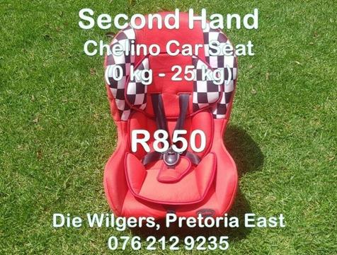 Second Hand Chelino Car Seat (0 kg - 25 kg)