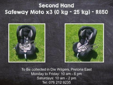 Second Hand Safeway Moto X3 (0 kg - 25 kg)