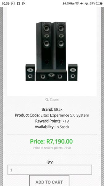 Eltax 5.0 surround sound speakers. Amazing speakers Danish speaker company