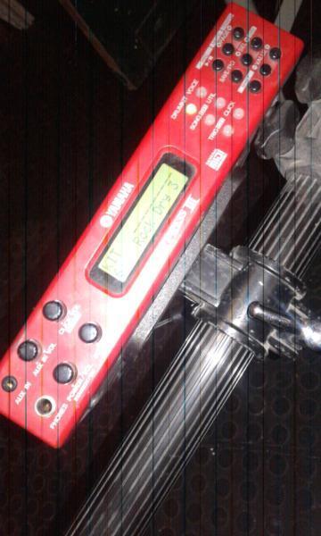 Yamaha Electric drum module plus 5 pads and drum rack
