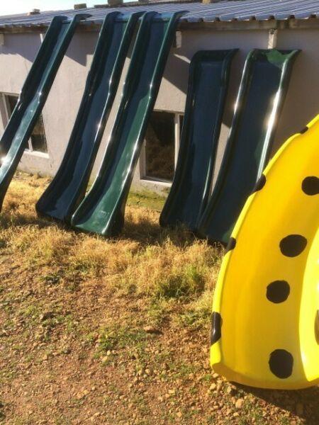 slides, jungle gyms, swings