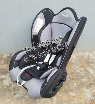 Second Hand Safeway Moto X3 Car seat (0 kg - 25 kg) - Grey and Black