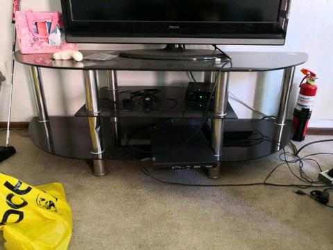 TV stand glass table desk